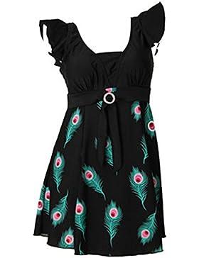 Wantdo Costume Da Bagno Sexy Pezzo Unico Multicolore Plus Size