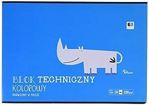 Interdruk BLTKA4LUXB&B - Bloc de Dibujo técnico, A4, 10 180 g, Color Azul y Negro