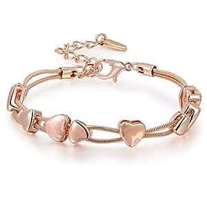 Valentine Gift By Shining Diva 18k Rose Gold Bracelet for Women