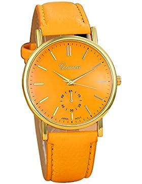 Franterd® Uhren, Unisex Herren Damen-Armbanduhr Elegant Uhr Modisch Zeitloses Design Klassisch Leder Römische...