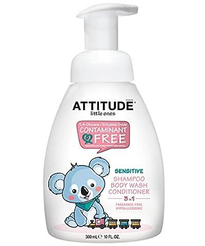 Attitude Little Ones 3-in-1 Shampoo, Body Wash, Conditioner Fragrance Free 300 ml