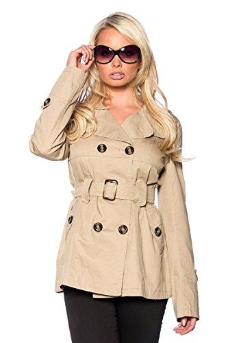 Atixo Trenchcoat kurz - beige, Größe #:XL