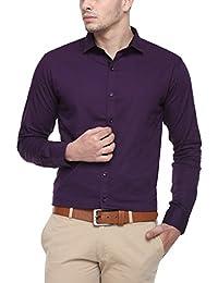 Cotton Tree Men's Casual Shirt_01_Purple_XL