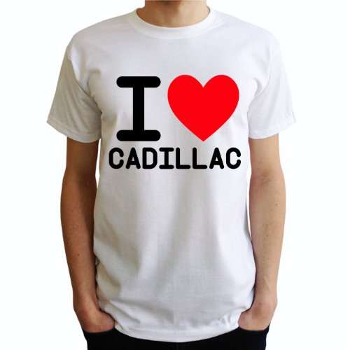 I love Cadillac Herren T-Shirt Weiß
