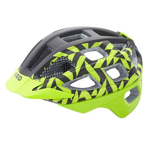KED Fahrradhelm Kailu - Allround-Helm in robuster maxSHELL- Technologie, Quicksafe- und Quickstopp-System - (M (Kopfumfang 53-59 cm), Green Black Matt)