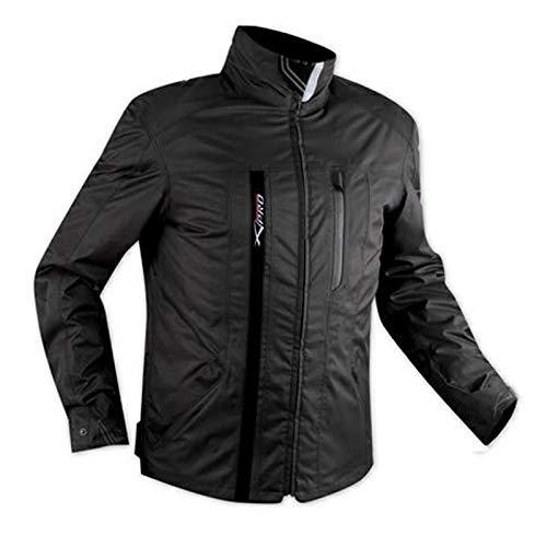 A-Pro, tessile, impermeabile, protezioni CE, fodera termica, giacca per moto nera, XL