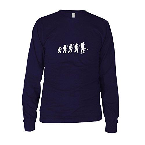 (Turtle Evolution - Herren Langarm T-Shirt, Größe: XXL, dunkelblau)