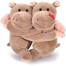 Lazada Peluche Felpa hipopótamo Abrazando Juguetes Amarillo 18cm - Mejores San Valentín