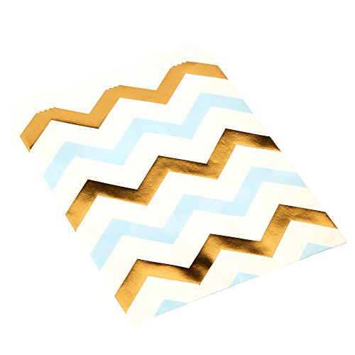 Neviti Motif Fonctionne – Sweetie Sac Chevron, Bleu, Lot DE 25
