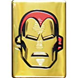 "Iron Man Head on Gold, Official Licensed Artwork - 2.5"" x 3.5"" High Quality Metal Magnet"