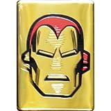 Appliances Men Beste Deals - Iron Man Head on Gold, Official Licensed Artwork - 2.5