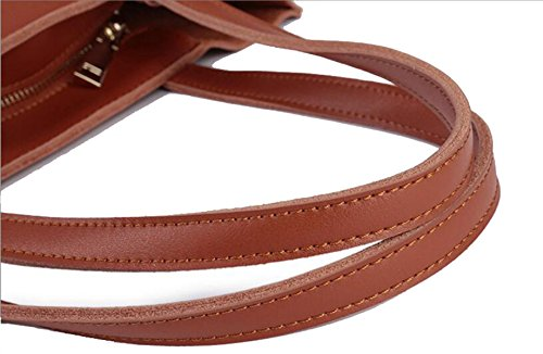 Mme Multifonction En Cuir épaule Frangé Sac Image brown