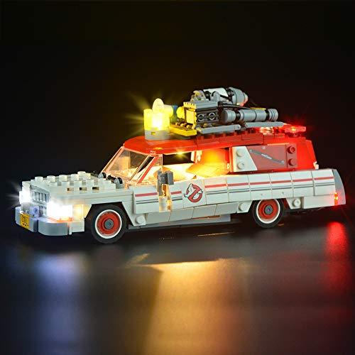 LIGHTAILING Conjunto de Luces (Ghostbusters Ecto-1 & 2) Modelo de Construcción de Bloques - Kit de luz LED Compatible con Lego 75828 (NO Incluido en el Modelo)