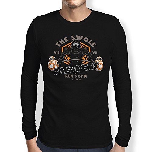 TEXLAB - The Swole - Herren Langarm T-Shirt, Größe M, (Falcon Muskel Kinder Kostüme)