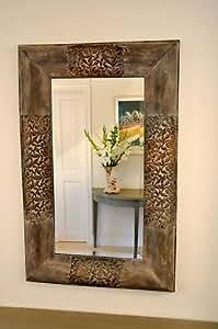 Jardin ou intérieur en métal, finition vieillie Miroir Istanbul Style. 91,5 cm