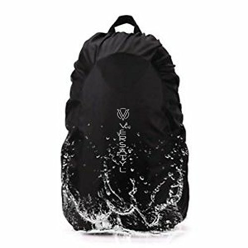 VERSATYL- Nylon Waterproof Backpack Rain/Dust Cover with Storage Bag for Hiking/Camping/Traveling/Outdoor Activities, Free Size 41zp2c4cpmL