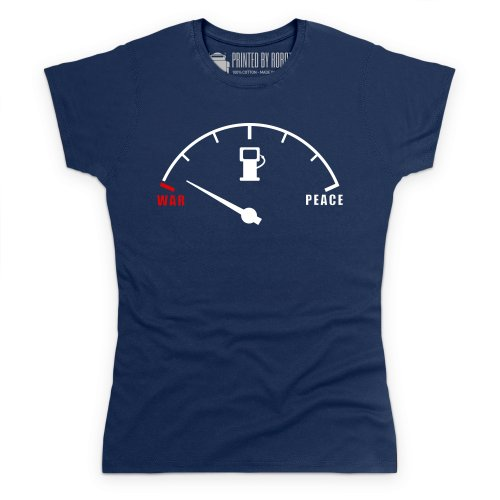Empty War T-Shirt, Damen Dunkelblau