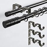 BSTKEY - Set di 3 Supporti per Asta da Tenda a Doppio Tubo, per Asta da 2,5 cm e 3,8 cm, Estensibile da Parete, in Metallo, Colore Marrone