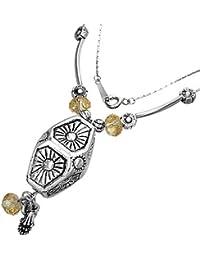 Fashion Kristall Bead Hexagon Charm Halskette