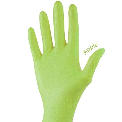 STYLE Nitril-Untersuchungshandschuhe puderfrei unsteril, Farbe:Apple;Größe:M
