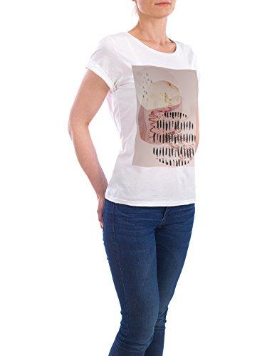 """Design T-Shirt Frauen Earth Positive """"Abstract Scandi in Blush Pink"""" - stylisches Shirt Abstrakt von Linsay Macdonald Weiß"""