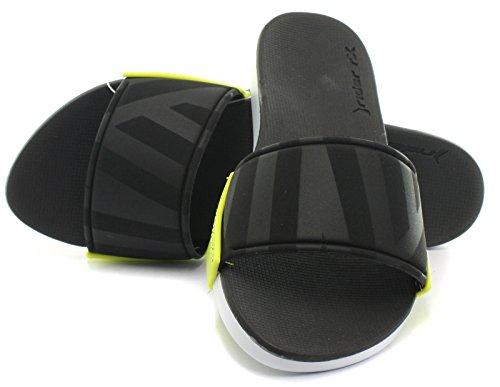Rider Damen Rx Slide Fem Zehentrenner Noir (White/Black/Green)