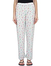 Fflirtygo Pyjamas for Women, Night Dress, Lounge Wear, Multi Color Flamingo Printed Pyjama,–Soft Cotton Night Wear by