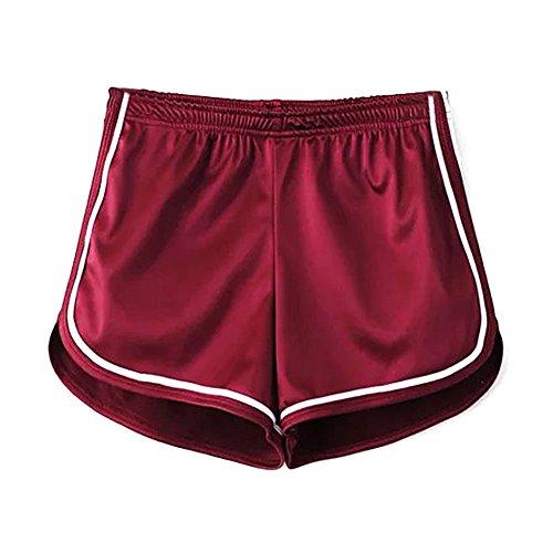 Mangotree Damen Sport Shorts Glänzende metallische Hosen