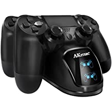 Cargador controlador PS4 AKmac, estación de carga USB dual para Sony PlayStation 4/PS4 Slim/PS4 Pro Controller