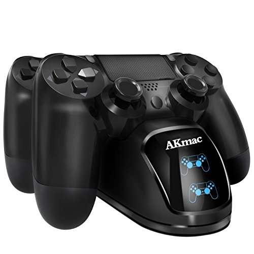 PS4 Controller Ladegerät, AKmac Dual USB Lade Docking Station für Sony PlayStation 4 / PS4 Slim / PS4 Pro Controller