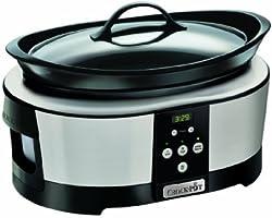Crock-Pot Slow Cooker, 5.7 Litre - Polished Stainless Steel
