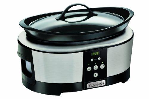 Crock-Pot Slow Cooker. 5.7 Litre. Polished Stainless Steel