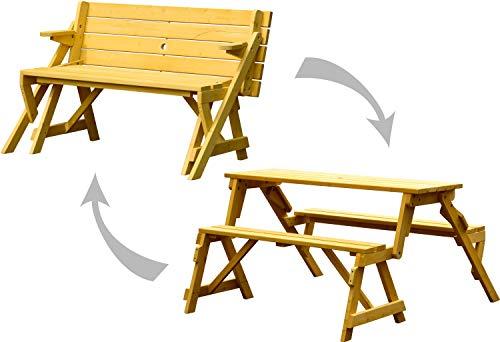Dobar 2 in 1 Picknicktisch und Sitzbank Banco