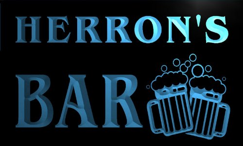 cartel-luminoso-w001248-b-herron-name-home-bar-pub-beer-mugs-cheers-neon-light-sign