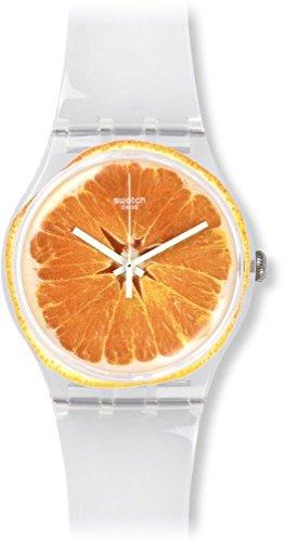 Swatch SUOK115 Montre bracelet mixte adulte Plastique Blanc