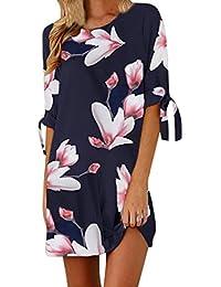 Homebaby Vestido floral del partido del coctel de las mangas del Bowknot de la impresión floral
