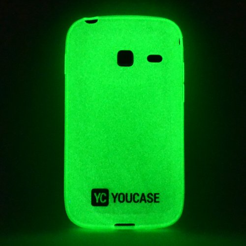 youcase-daynnight-case-samsung-galaxy-y-duos-gt-s6102-glow-cover-schutz-hulle-grun-gel-silikon-tpu-g