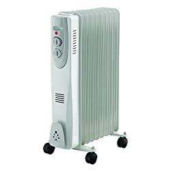 9 Fin 2000w Portable Electric Oil Filled Radiator Electrical Caravan Heater 240v