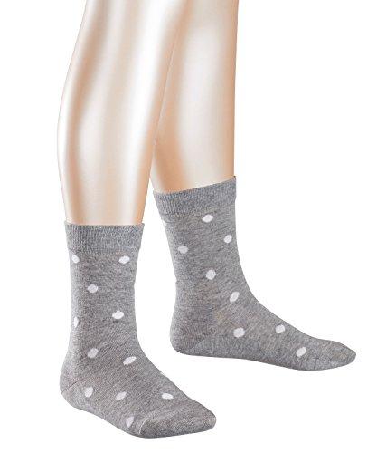 FALKE Mädchen Socken Dot, Mehrfarbig (Lightgrey 3404), 35-38 (Winter Kinder Socken)