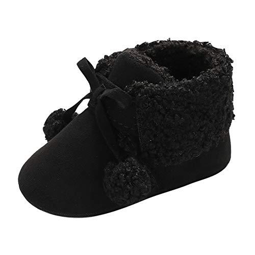 Sonnena Haar Ball Schuhe Kleinkind Niedlich Schneeschuhe Boots Kinderschuhe Baby Mädchen Warm Winterschuhe Schuhe Jungen Lauflernschuhe Weiche Sohle Babyschuhe Krabbelschuhe