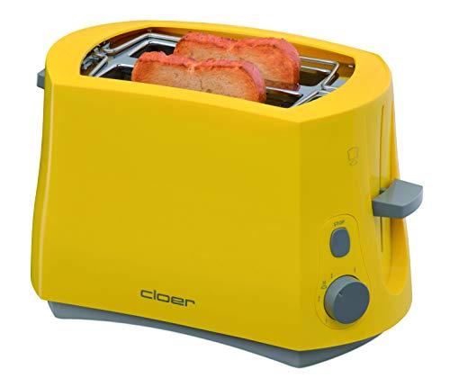 Cloer 3317-2 Toaster in gelb, Kunststoff, lemontree