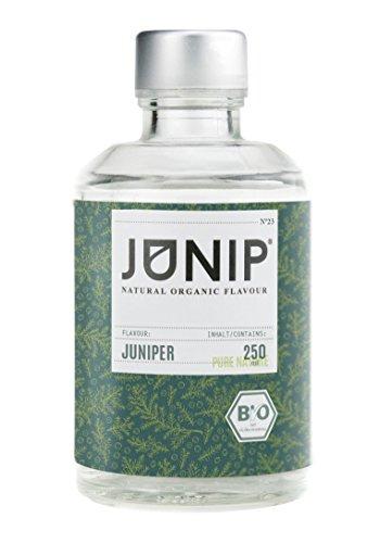 JUNIP Organics - natürliches Bio Aroma (Wacholder), 250 ml Flasche für 50 Gläser Wasser