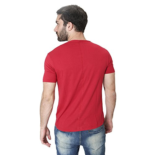 T-Shirt Männer Shirt in Baumwolle Sommer Casual Smiling London Rot
