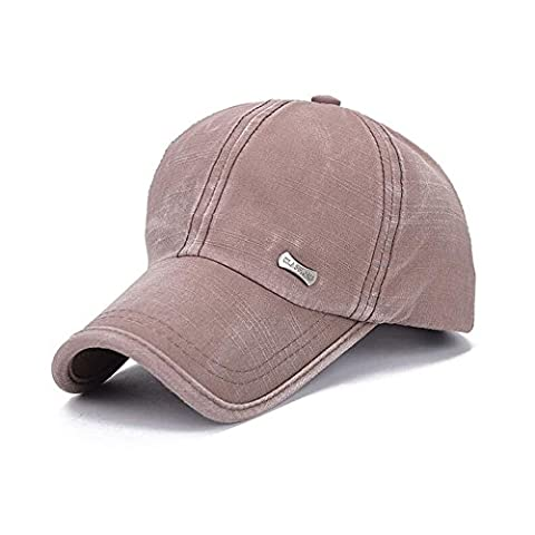 KRY Baseball Cap for Unisex Outdoor Sports Cap Washed Style Sport Hats Hip-hop Caps Sun Hat Women Sun Caps Men with Visor Cover Do The Old Styles (Brown)