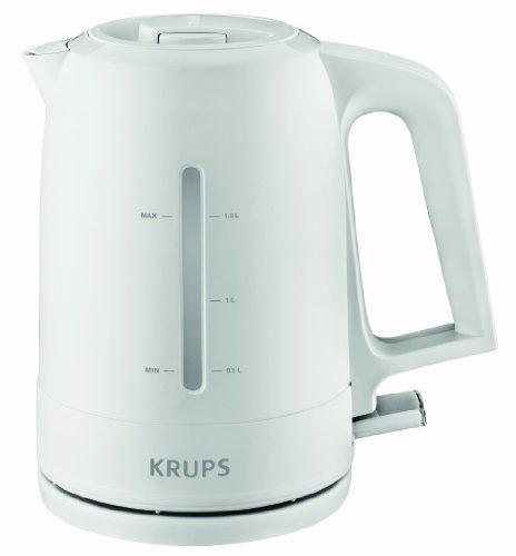Krups BW2441 Wasserkocher Pro Aroma, 1,6 L, 2,400 W mit beleuchtetem Ein-/Ausschalter, weiß