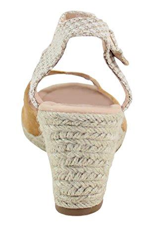 By Shoes Sandale en Corde de Chanvre - Femme Camel