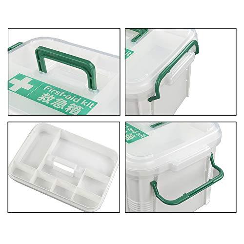 41zp9X4H7qL - Dynko Botiquín de Primeros Auxilios, Caja de Almacenaje, Plástico Caja Para Botiquin