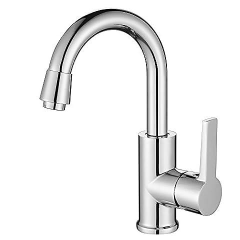 Homelody 360° Drehbar Mischbatterie Chrom Wasserhahn Bad Armatur für Küche
