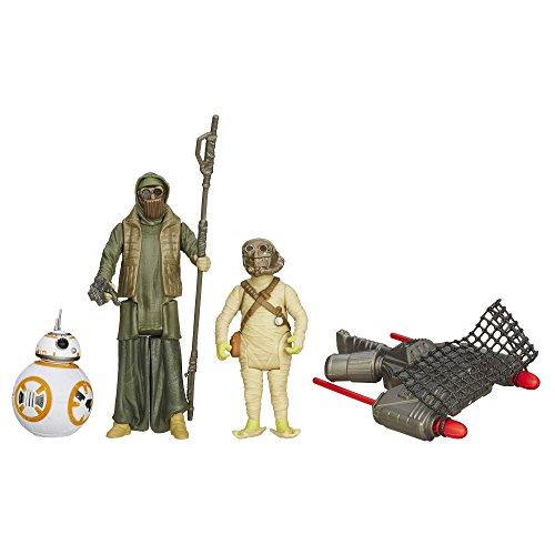 STAR WARS Le réveil de la Force 9,5 cm Désert Mission BB-8 et Le Bandit d'Unkar Figure (Lot de 3)