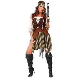 Disfraz de pirata de alta mar para mujer.